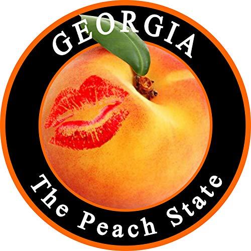 georgia peach decal - 6