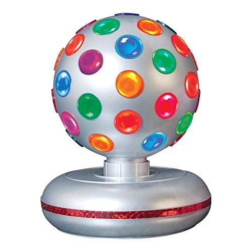 Global Gizmos 45800 E14 Small Edison Screw 25 Watt 1 Global Gizmos 6-inch Rotating Disco Ball Light, Silver