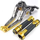 Para SU & Zukigsf 650 1200 1250 bandidos de la palanca de freno de la palanca de la palanca de la palanca de la palanca ajustable de aluminio de aluminio. Embrague Freno Palancas Pivote (Color : D)