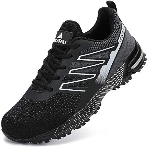 UCAYALI Zapatos de Seguridad Hombre Mujer Anti-Piercing Zapatos de Trabajo Punta de Acero Antideslizante Calzado Seguridad Deportivo Negro B Gr.42