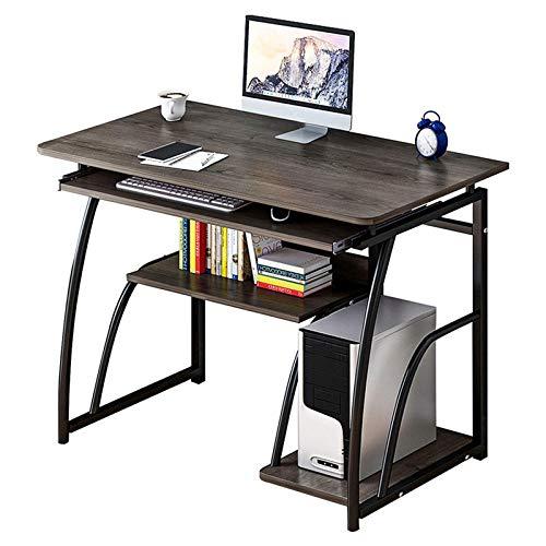 Yhjkvl Escritorio de madera para ordenador portátil, portátil, estación de trabajo, bandeja de escritura, mesa de oficina o hogar (tamaño: 800 mm; color: negro)