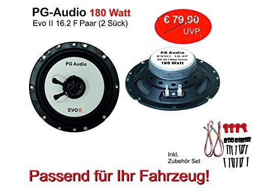 PG Audio EVO II 16.2F Paire d'enceintes plates coaxiales 16 cm