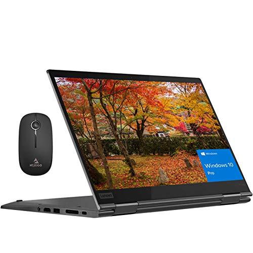 2020 Lenovo Thinkpad X1 Yoga Touchscreen 2-in-1 Laptop, 14 Inch FHD 1080P, Intel 4-Core i7-10510U up to 4.9GHz, Backlit KB, 16GB RAM, 1TB SSD, FP Reader, Win10 Pro + NexiGo Wireless Mouse Bundle