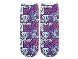 Unbekannt Socken bunt mit lustigen Motiven Print Socken Motivsocken Damen Herren ALSINO, Variante wählen:SO-L095 Diamant
