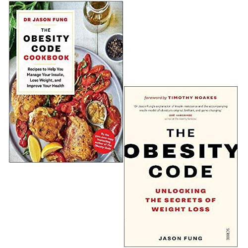 Dr Jason Fung 2 Books Collection Set The Obesity Code Cookbook, The Obesity Code