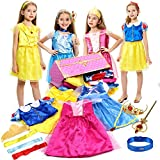 G.C Princess Dress up Trunk for Girls Princess Costume Dress Jewelry Pretend Cosplay Role Play Set Gift Toy Party Favors Dress up Clothes Accessories for Little Girl Toddler Ages 3-6 Years