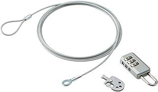 エレコム セキュリティワイヤー ダイヤル式南京錠 マルチロックパーツ 通常キー ESL-10A