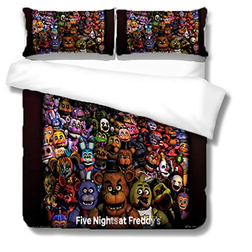 Douluo Decor Microfiber Duvet Cover Set 3D Game Robot 220 * 230Cm Bedding Set For Single Double Easy Care Bed Quilt Covers With Pillowcases Boy Girl Bedroom Decoration