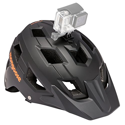 Mongoose Capture Adult Bike Helmet, Go Pro Camera Mount, Adjustable Dial Fit, Lightweight, 15 Air Vents, Ages 14+, Black