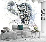 3D Kreative Kunstdrucke Bilder Blaue Augen Leopard Tiger