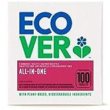 Ecover - Pastiglie per lavastoviglie All-In-One, limone, mandarino, multipastiglie per una pulizia potente, con brillantante e sale, 2 kg