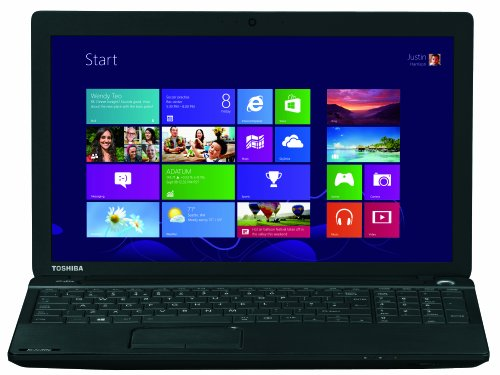 Toshiba Satellite C50-A-1JU 39,6 cm (15,6 Zoll) Notebook (Intel Pentium N3520 Quad Core, bis zu 2,42GHz, 4GB RAM, 500GB HDD, Intel HD, DVD, Win 8.1) schwarz
