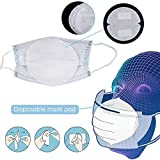 Masque Jetable Masque Bouche 50pcs Joint Filtre Coton de Base Isolation Replaceable Respirant Tapis Anti-poussière Masque Bouche Mat 3 Couches