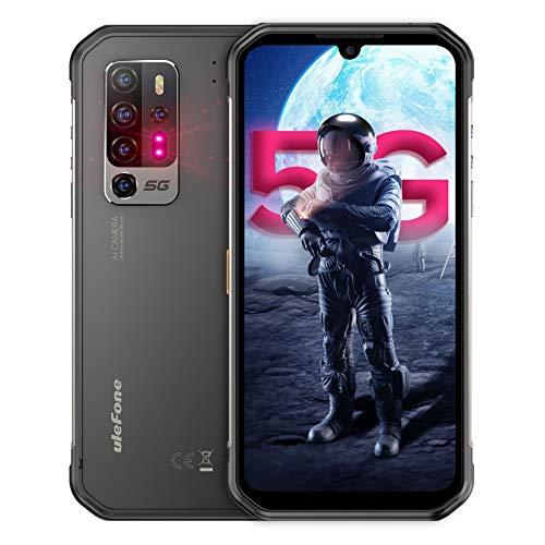 5G Outdoor Smartphones ohne Vertrag 8GB+256GB, Ulefone Armor 11 MediaTek Dimensity 800-Chipsatz, Octa-Core Android 10, 6,1-Zoll-Bildschirm, 20MP Nachtsichtkamera AI, 5200mAh Batterie