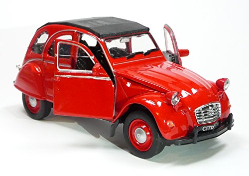 Citroen 2CV rot Ente geschlossen Modellauto 12180