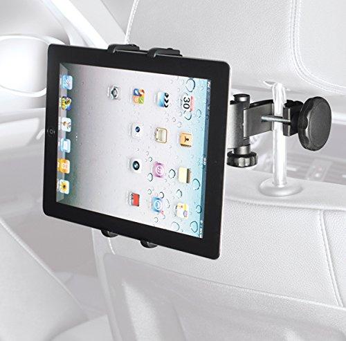 hr-imotion Universal Tablet & E-Book Reader (Nintendo Switch kompatibel) Kopfstützen-Befestigung mit einstellbarem Blickwinkel [Made in Germany I 105-240mm I 360° drehbar I vibrationsfrei] 22210101