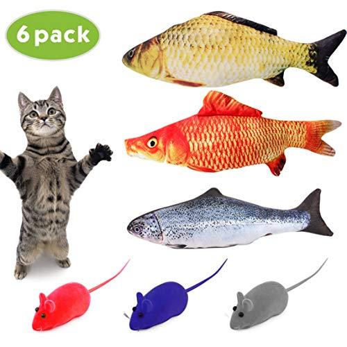 Idepet 6PCS Catnip Pescado Gato de Juguete