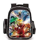 Backpack League of Legends Print Kids School Book Bag Satchel Rucksack 6-12 Year Old Unisex A-423217CM