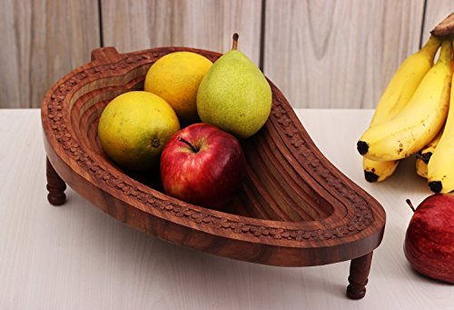 Affaires Wooden Mango Shape Fruit Basket...