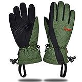 スキーグローブ スキー手袋 3Mシンサレート高機能中綿 保温 防寒 防水 防風 男女兼用 登山 除雪作業 アウトドアグローブ タッチパネル 滑り止め付き