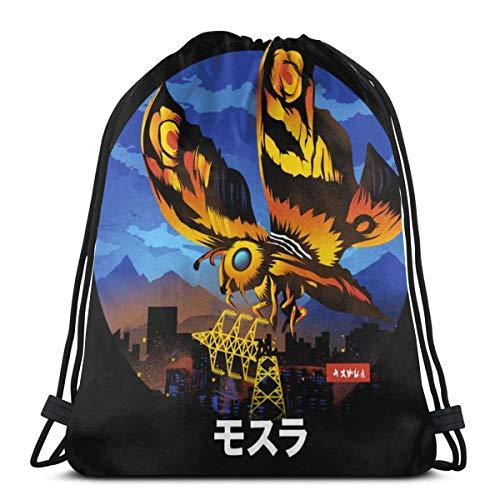 IUBBKI The Enormous Moth - Mothra Drawstring Bag Sport Gym Mochila Almacenamiento Goodie Cinch Bag