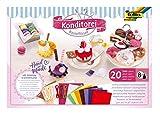 Bastelfilzset Konditorei 20 teilig, umfangreiches Bastelset zum Gestalten von Kaufladen Produkten aus Filz, inklusive Anleitung und Schnittmuster -