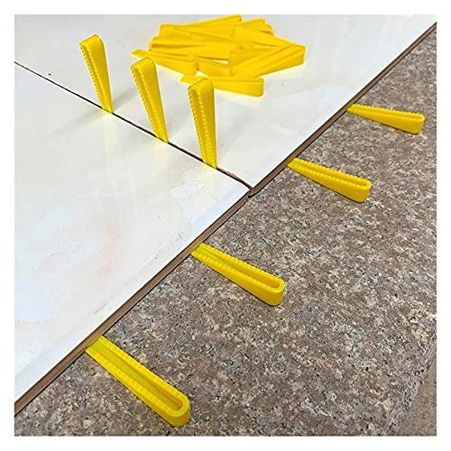XYXXBB 100 unids Plástico Cuña Azulejos Ajustador Ajustador de Altura Herramienta de construcción Piso de Pared Levelador de baldosas de cerámica Sistema de nivelación