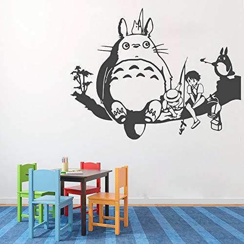 pegatinas decorativas pared Pared de anime Pegatinas de vinilo extraíbles Totoro Decal Kids Room Home Sweet Home My Neighbor Totoro