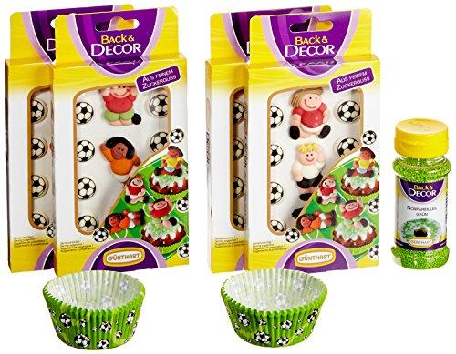 Günthart 1 Fußball Cupcake Set, 1er Pack (1 x 181 g)