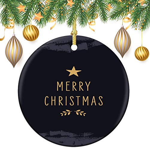None-brands Monogram Ornament Wreath Ornament Xmas Tree Ornament Custom 2020 Ornament Merry Christams Xmas Gift,Christmasation,Round Flat Keepsake