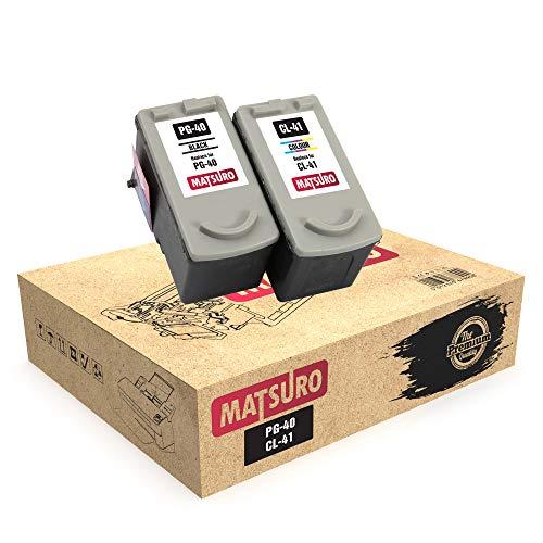 Matsuro Original | Kompatibel Remanufactured Tintenpatronen Ersatz für Canon PG-40 CL-41 (1 Set)