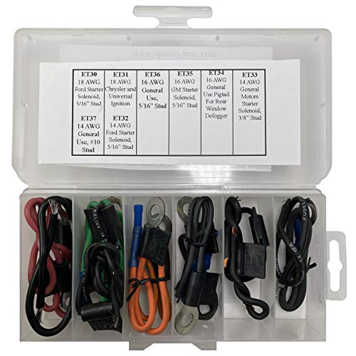 Sherco-Auto 16 Piece Master Fusible Link Wire Assortment Kit - 8 Types 2 Of Each - Made in the USA