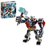LEGO 76169 Super Heroes Marvel Vengadores Classic Armadura Robótica de Thor, Figura de Acción de Juguete para Niños a Partir de 7 Años