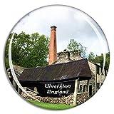Weekino Ulverston Stott Park Bobbin Mill Reino Unido Inglaterra Imán de Nevera 3D de Cristal de la Ciudad de Viaje Recuerdo Colección de Regalo Fuerte Etiqueta Engomada refrigerador