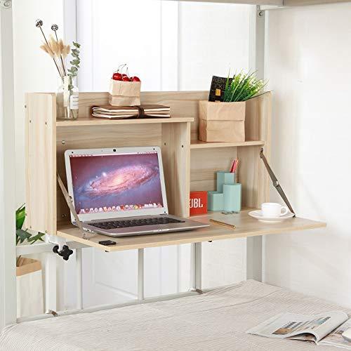 FEI Installation libre de chambre à coucher de bureau de carnet d'ordinateur, stabilité anti-vol bonne stabilité renforcent le roulement de charge (Couleur : White maple)