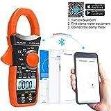 Pinza Amperimétrica YF-570S-APP Multimetro Digital Inalámbrico Bluetooth Rango Automático 1000A Amperímetro Pinza Multímetro, para Voltaje, Corriente, Ohmios, Capacitancia, Probador de Temperatura