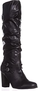 Womens Sophiie Faux Leather Slouchy Knee-High Boots