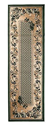 Carpeto Rugs Tapis Salon Vert 70 x 300 cm Classique/Verona Collection