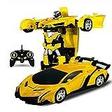 Regalo Coches de control remoto, control remoto 2 en 1 coche, coche de control remoto del robot por el alquiler de coches deportivos de acelerar la transformación del robot de juguete de regalo modelo