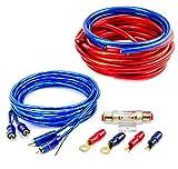 Watermark CK-2000 CAR HIFI Verstärker Endstufe Kabel Anschlusskabel KOMPLETTSATZ 20 qmm mit Cinch Kabel