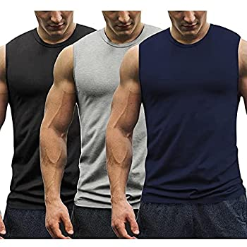 COOFANDY Men s 3 Pack Workout Tank Tops Gym Muscle Tee Bodybuilding Fitness Sleeveless T Shirts