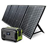 PAXCESS Rockman 200W Portable Power Station with 60W Solar Panel Kit