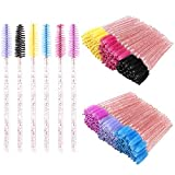 300 Disposable Mascara Wands, Eyelash Brush Spoolies for Eye Lash Extension, Eyebrow and Makeup Crystal Tbestmax
