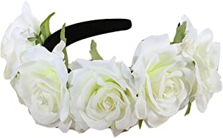 Zhhlinyuan Fashion Flores Accessory Gift Women Fake Flowers Hair Dress Up Wedding Hairpin Headband Flowers Girl Go on Vacation