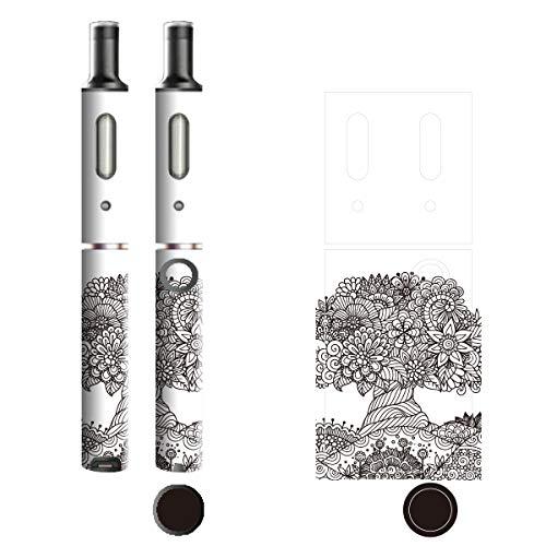 電子たばこ タバコ 煙草 喫煙具 専用スキンシール 対応機種 プルームテックプラスシール Ploom Tech Plus シール ラインアート Black & White 10 花の樹 21-pt08-0106