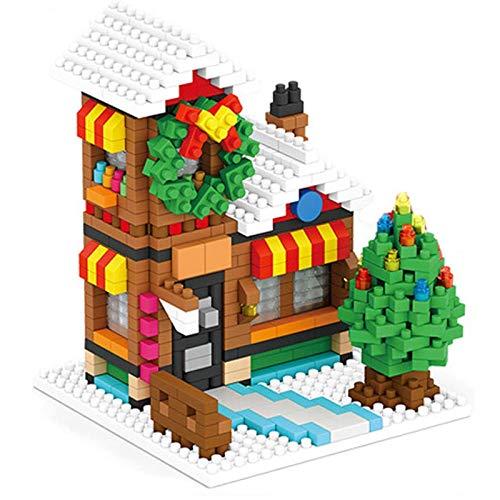 XDLH CASA PEQUEÑA CASA DE CASA DE Navidad Bloques De Construcción Kits para Niños, DIY Micro Gránulo Modelo 3D Puzzle Juguete Educativo para Boy Girl Adults Regalo