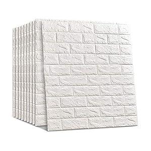 70 * 77cm Ladrillo 3D Etiqueta Pared Autoadhesivo Wallpaper Insonorizado Fondo Impermeable Decoración Pared Inicio DIY Arte Pared Calcomanías Para Sala Estar (1Pcs)