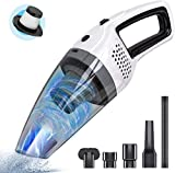 Handheld Cordless Vacuum Cleaner, BOLWEO DC 12V Portable Car Vacuum Cleaner, Strong Suction High Power Hand Vacuum, Lightweight Dry Wet Amphibious Vehicle Cleaner