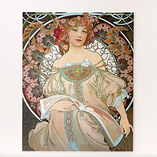 Alphonso Mucha   Daydream Floral Art Nouveau Puzzles for Adults, 1000 Piece Kids Jigsaw Puzzles Game Toys Gift for Children Boys and Girls, 20
