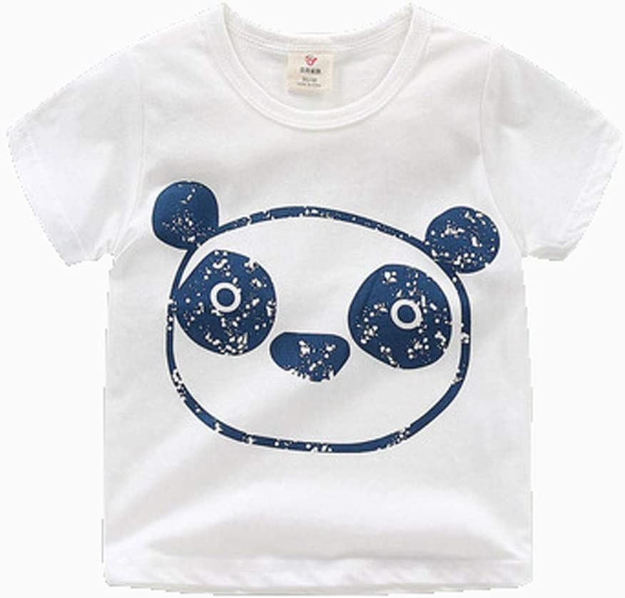 Short-Sleeved t-Shirt Summer Clothes Boys and Girls Kid's Cartoon Round Neck top Cotton Cotton T-Shirt Suitable for Kid with a Height of 90CM-140CM Soft (Color : F, Size : 120CM)